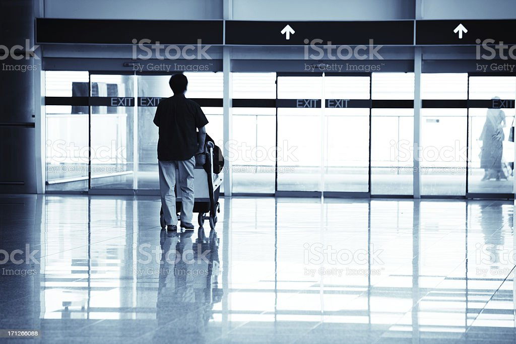 Traveller in Airport royalty-free stock photo