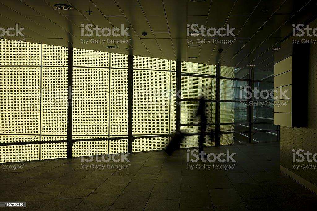 Traveller in Modern Interior royalty-free stock photo