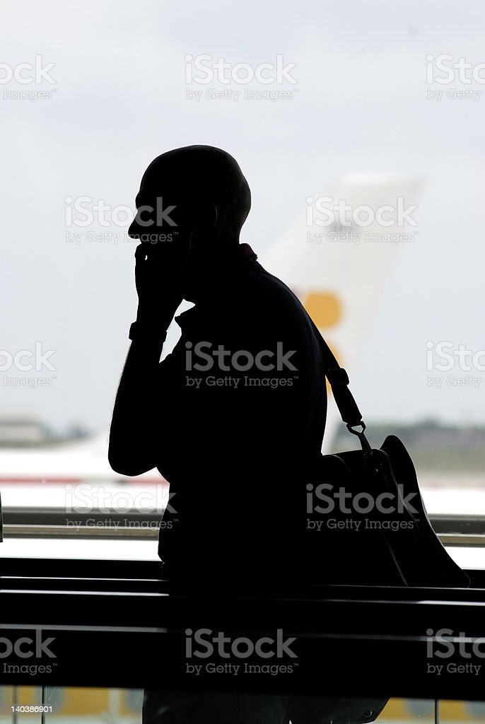 traveller talking by phone royalty-free stock photo