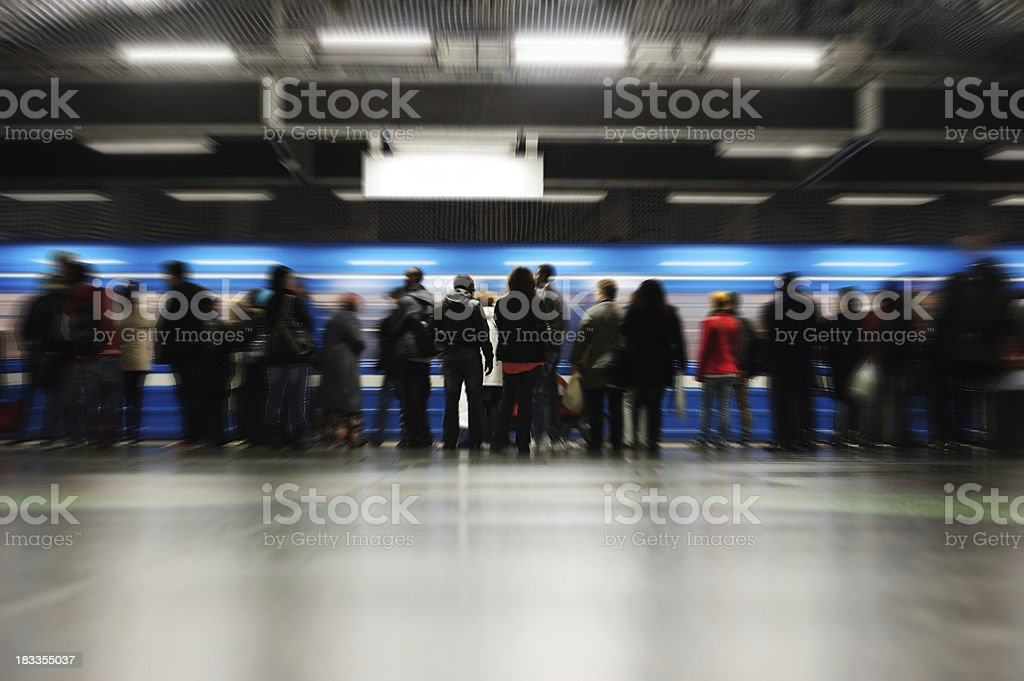 Travellers in silhouette royalty-free stock photo