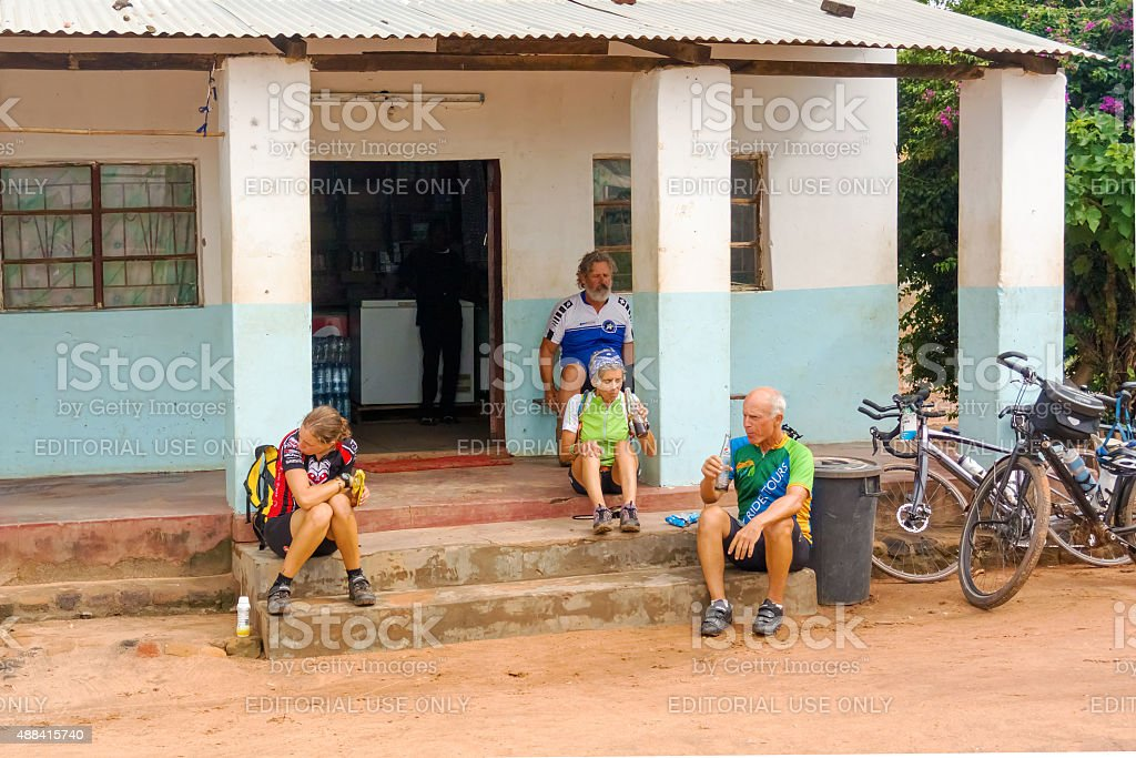 Travellers in Zambia stock photo