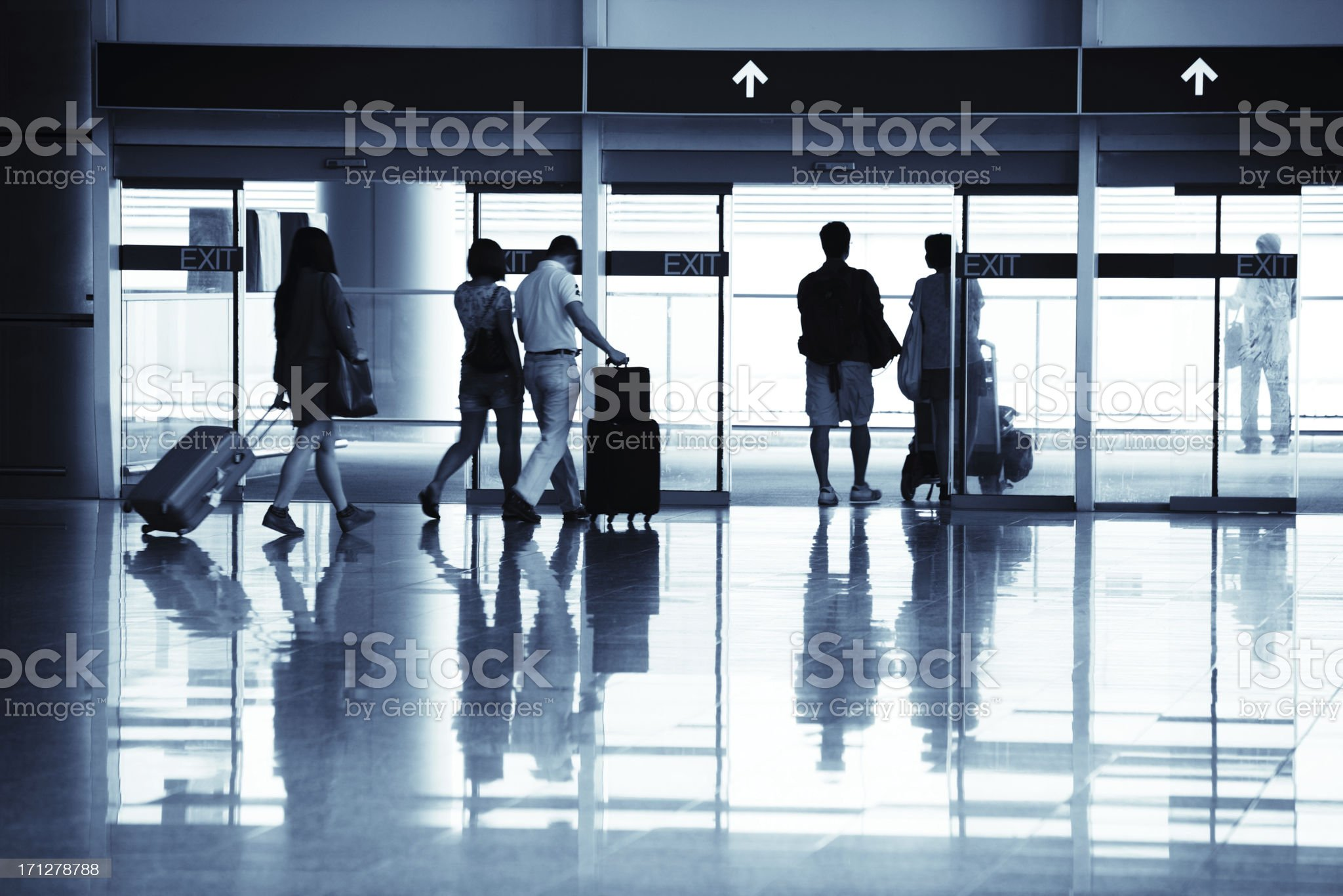 Travellers royalty-free stock photo