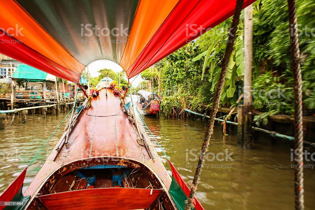 Travelling around Bangkok stock photo