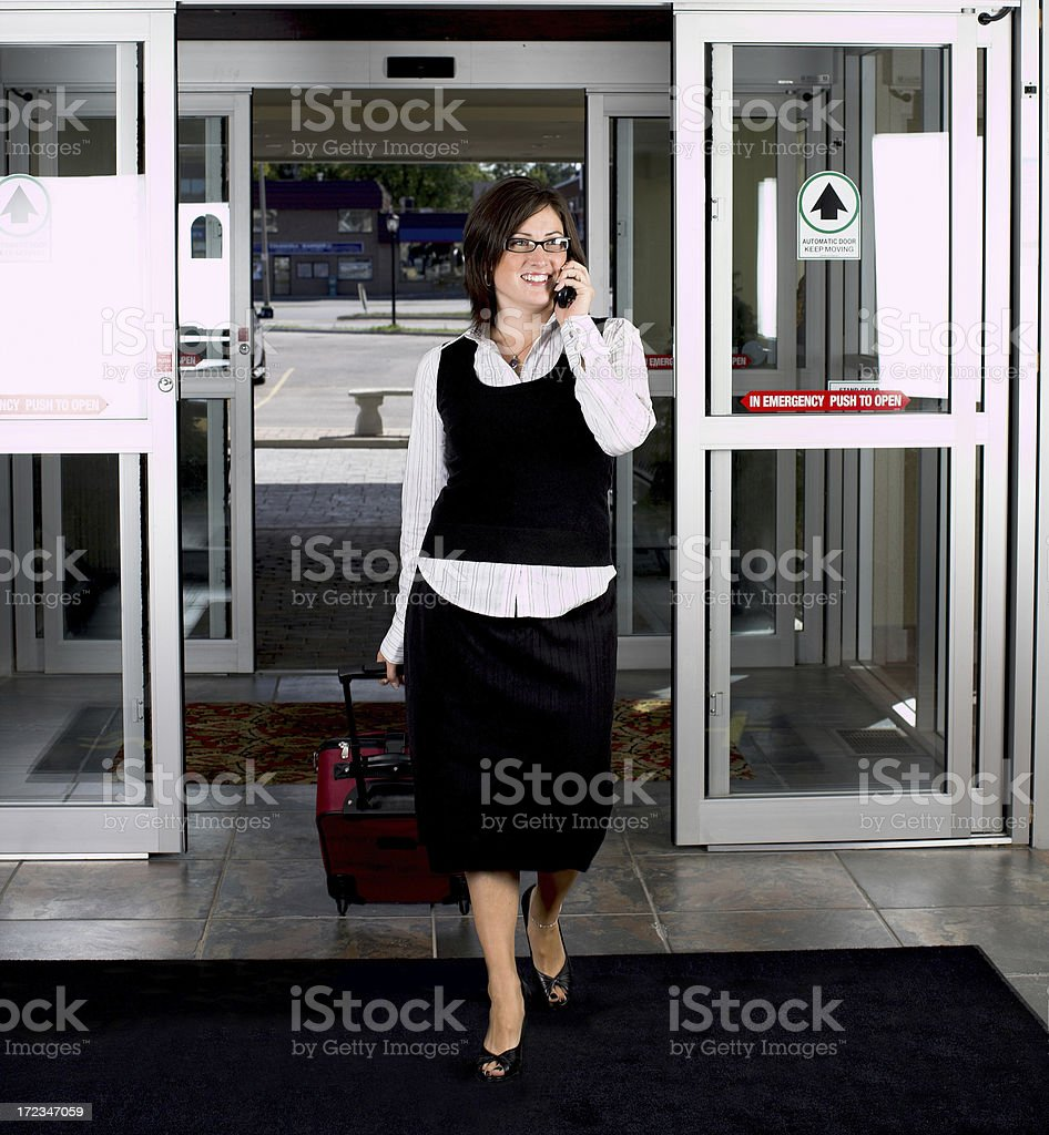 Travelling business woman royalty-free stock photo