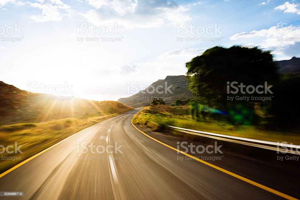 Travelling By Road stock photo