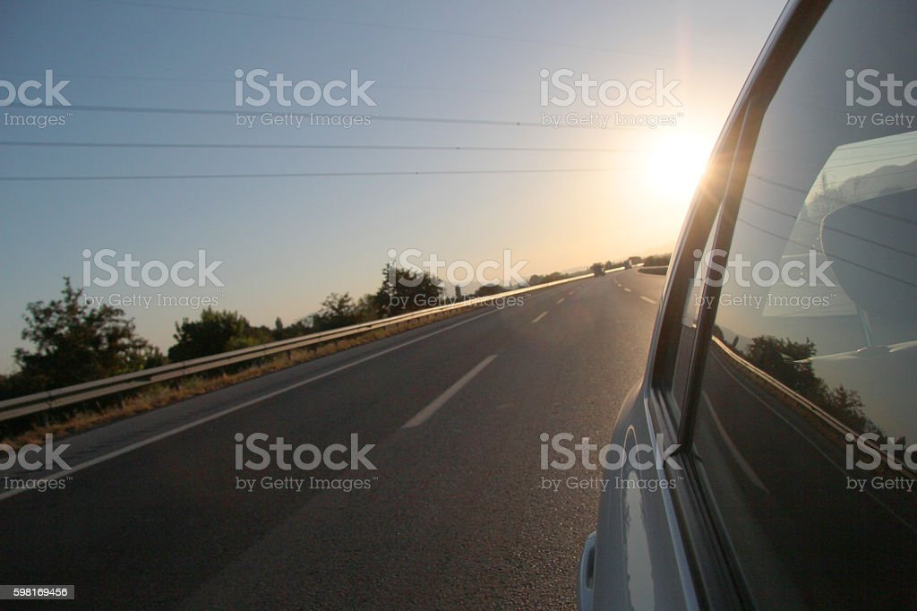 travelling car stock photo