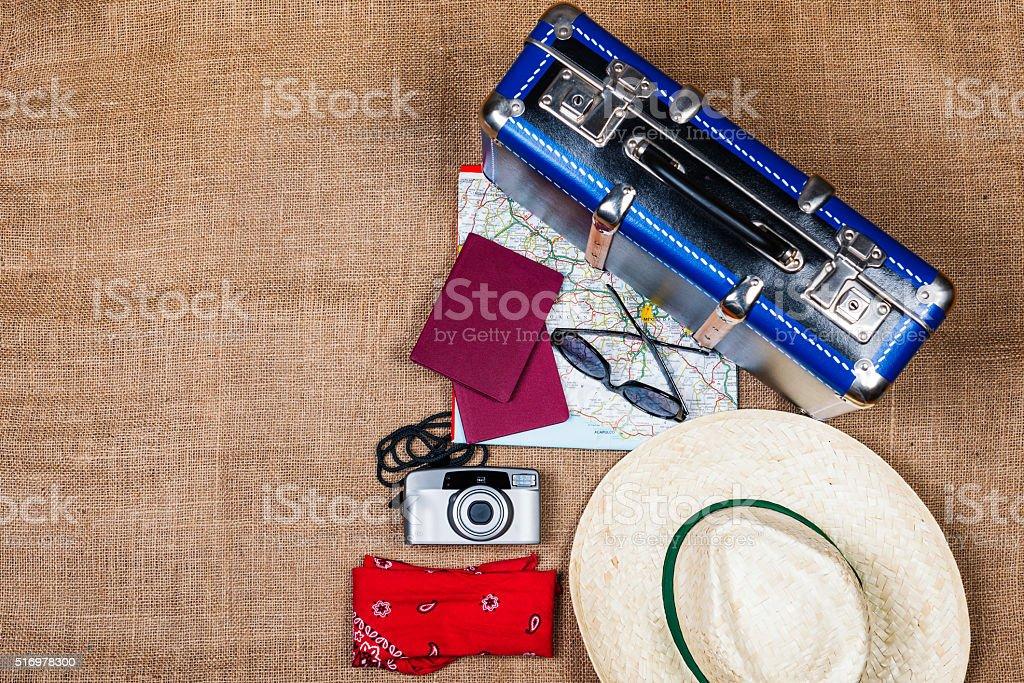 travelling equipment stock photo