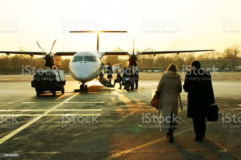 Travelling on a small plane royalty-free stock photo
