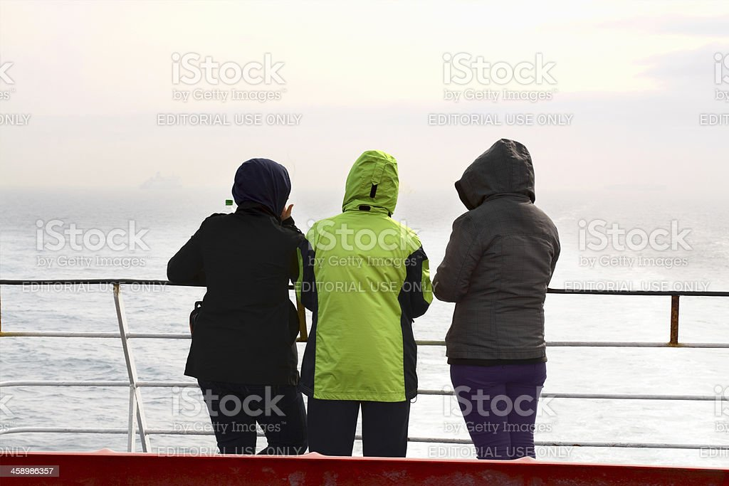 Travelling on British Channel stock photo