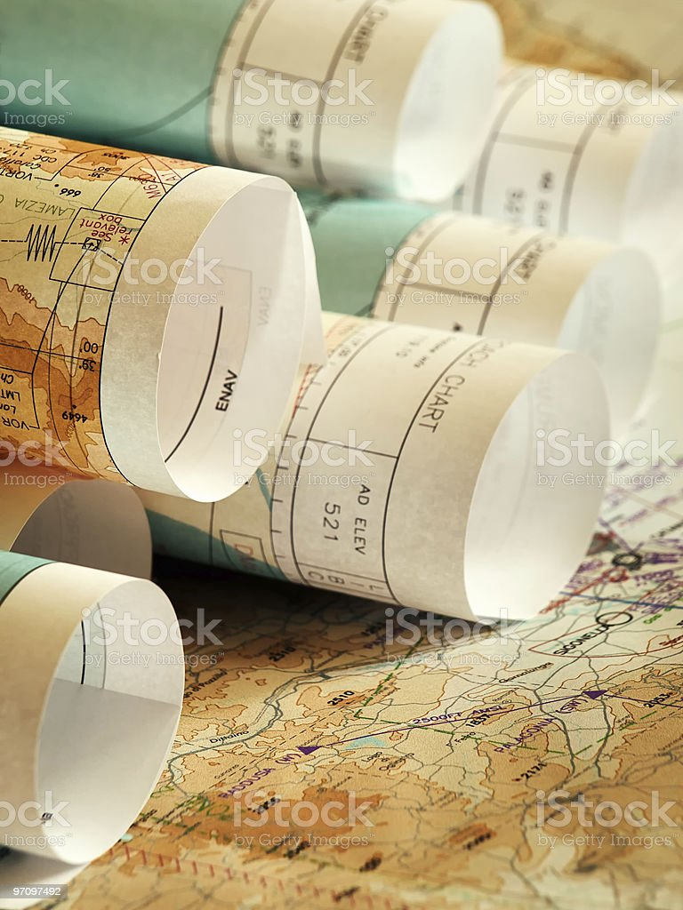 Travelling plans royalty-free stock photo