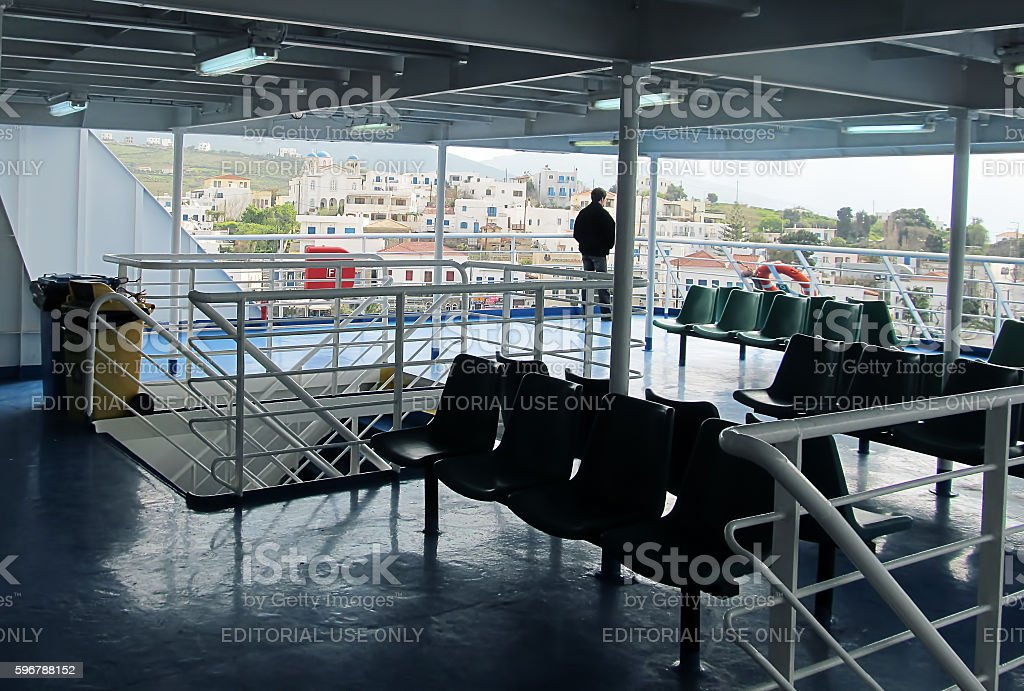 Travelling solo to the Greek islands stock photo