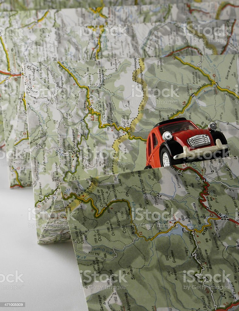 Travellking by car-2 royalty-free stock photo