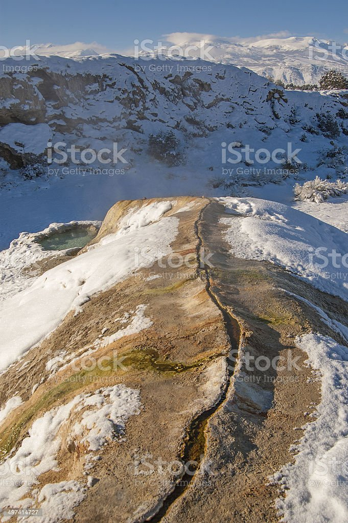 Travertine and Sierra stock photo