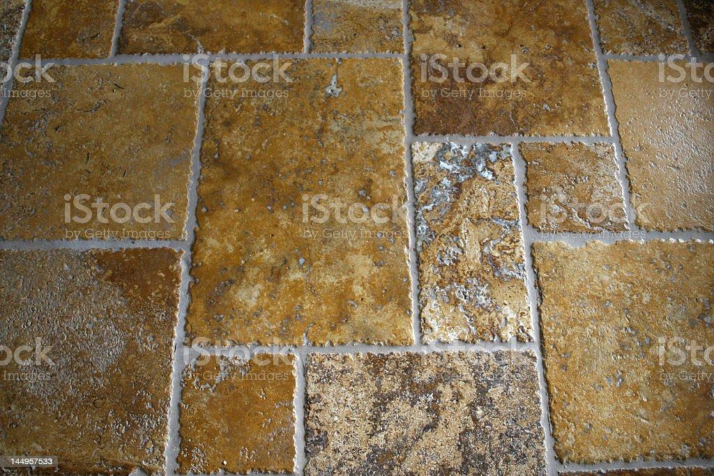 Travertine floor tiles stock photo