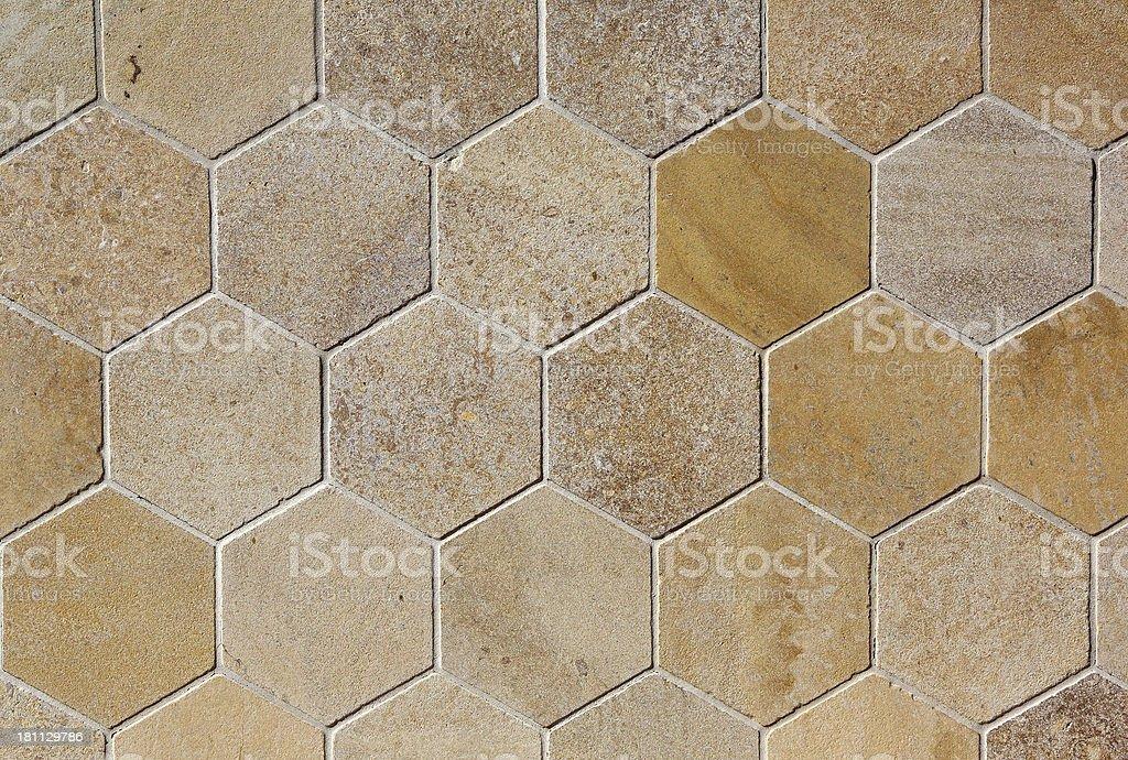hexagonal azulejos de travertino foto royaltyfree