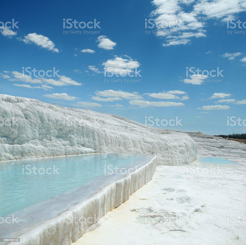 Travertine pools of Pamukkale stock photo