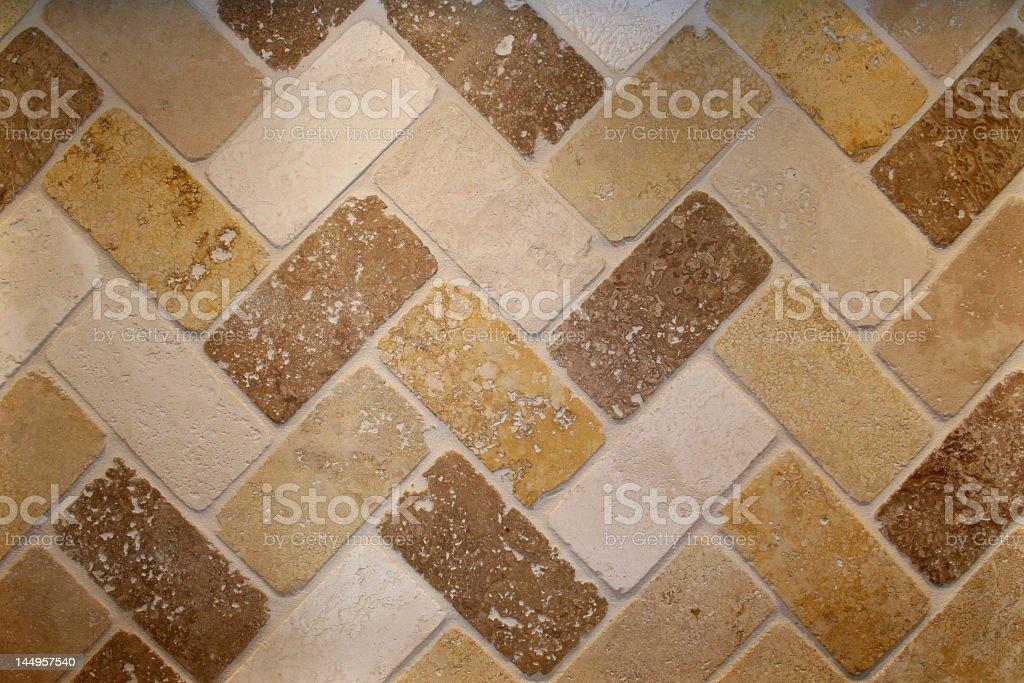 Travertine tile backsplash royalty-free stock photo