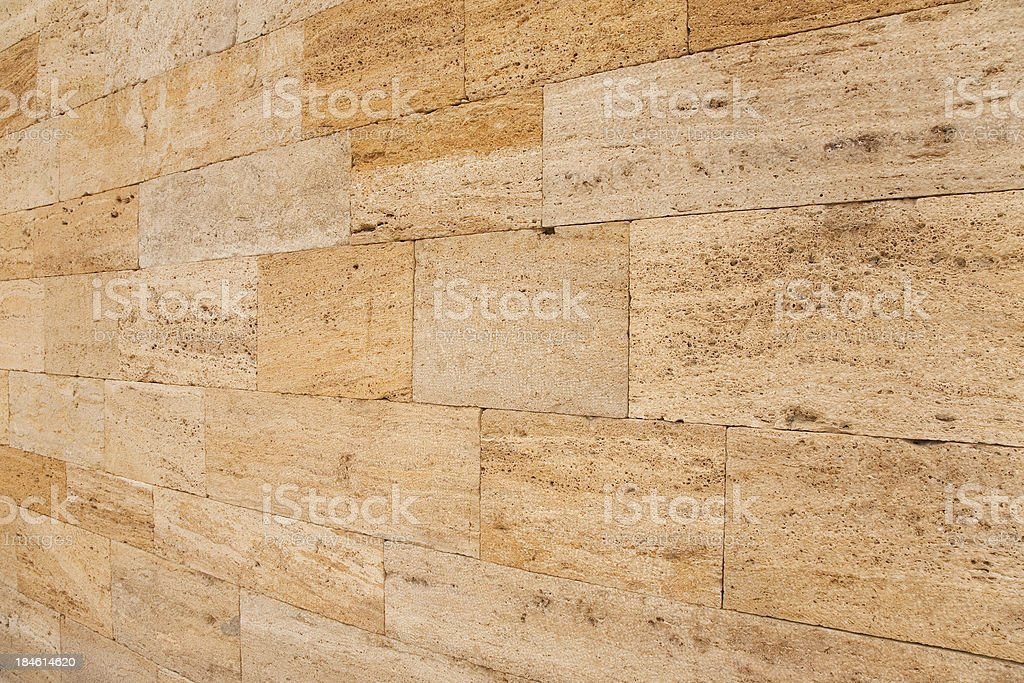 travertine wall stock photo
