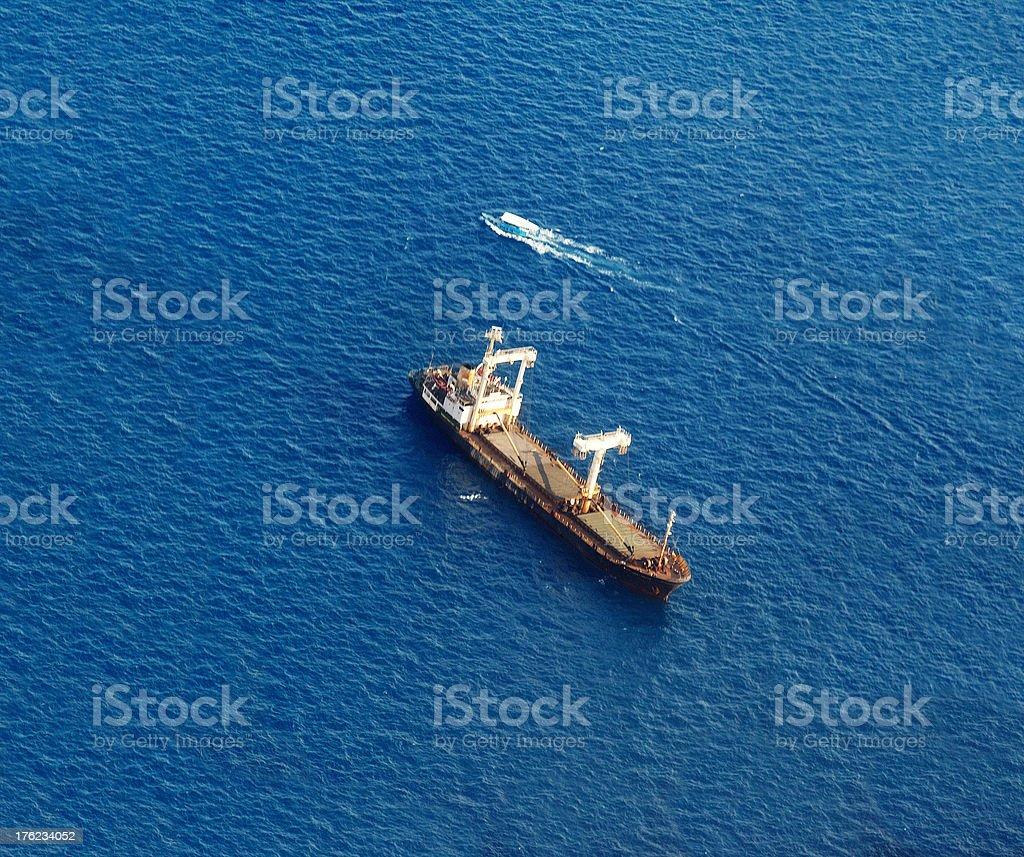 Travlling the endless seas stock photo