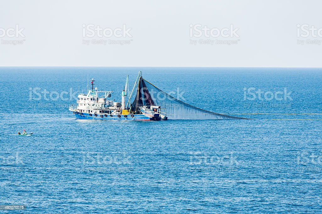 Trawl Fishing Boat stock photo