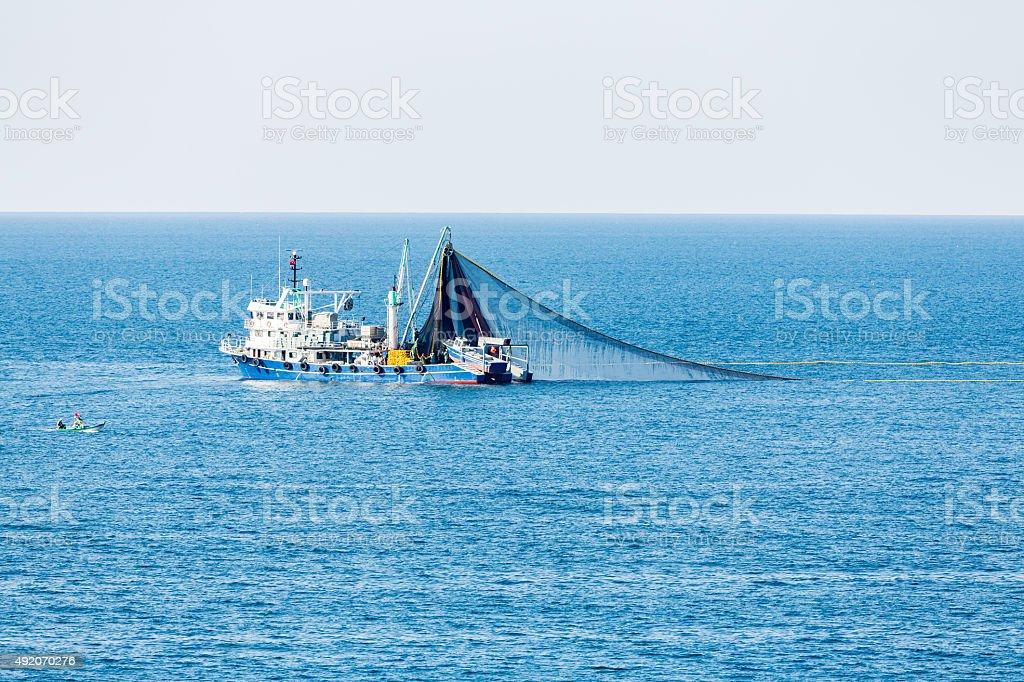 Trawl Fishing Boat stock photo