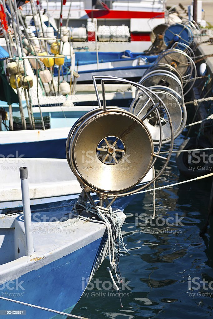 Trawl Winch royalty-free stock photo