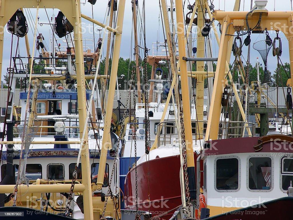 Traineira caos. foto de stock royalty-free