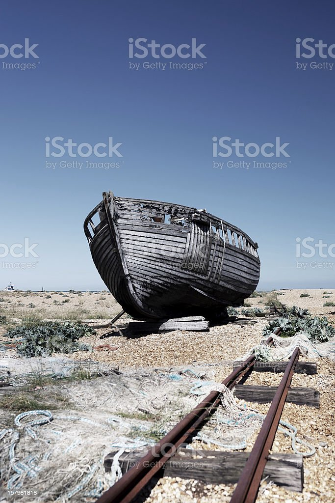 trawler fishing boat wreck derelict royalty-free stock photo