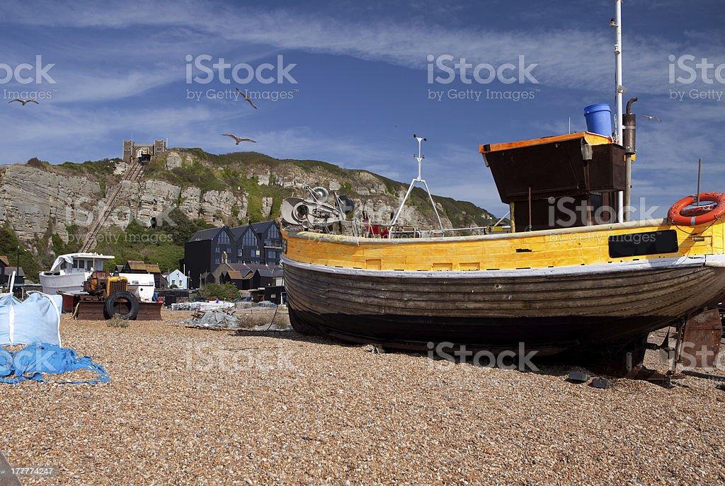 trawler hastings fishing royalty-free stock photo
