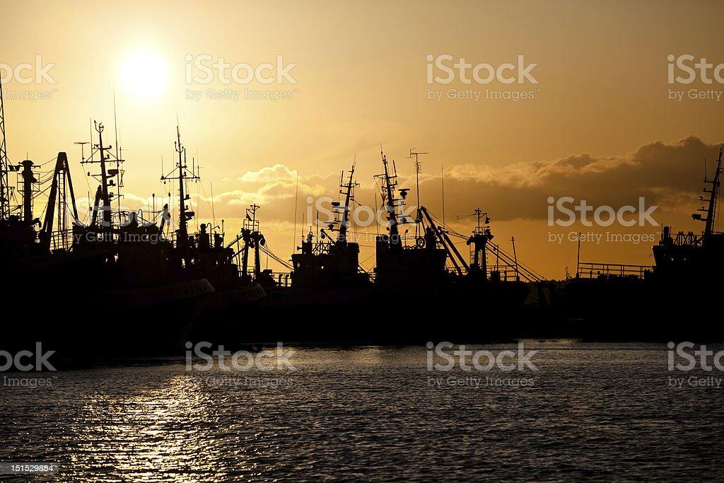 Trawlers royalty-free stock photo