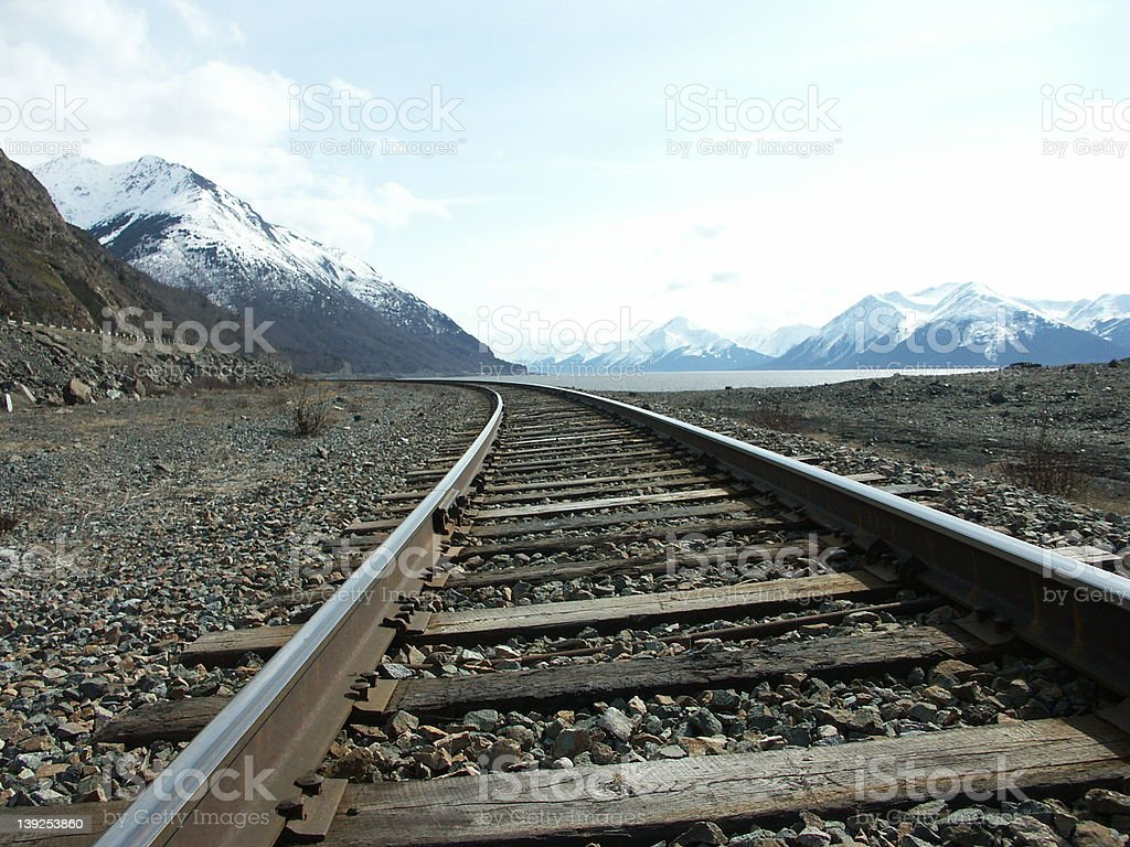 trax to the mountains royalty-free stock photo