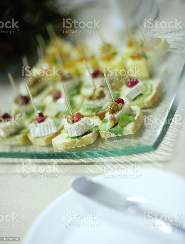 tray of appetizers royalty-free stock photo