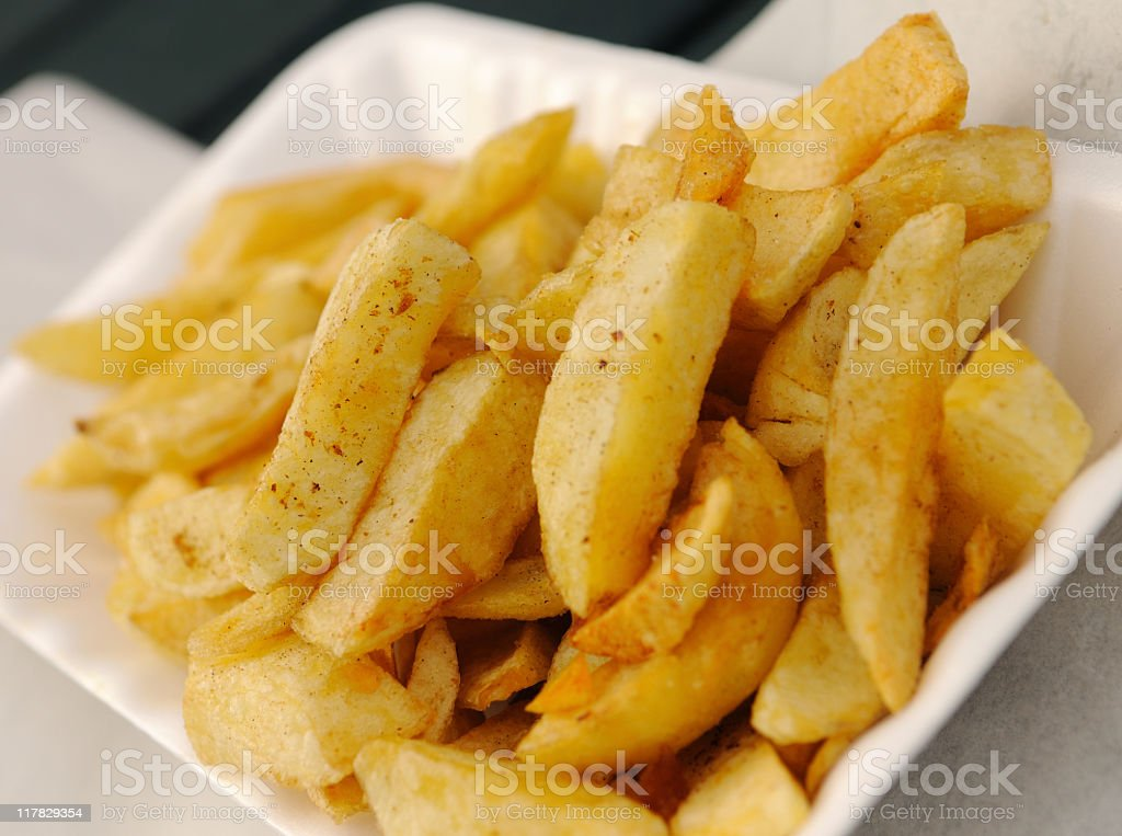 Tray of Chips stock photo