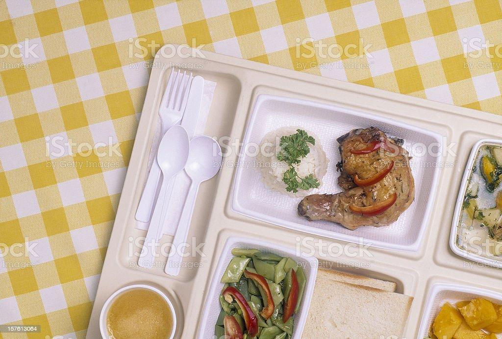 Tray of Food stock photo