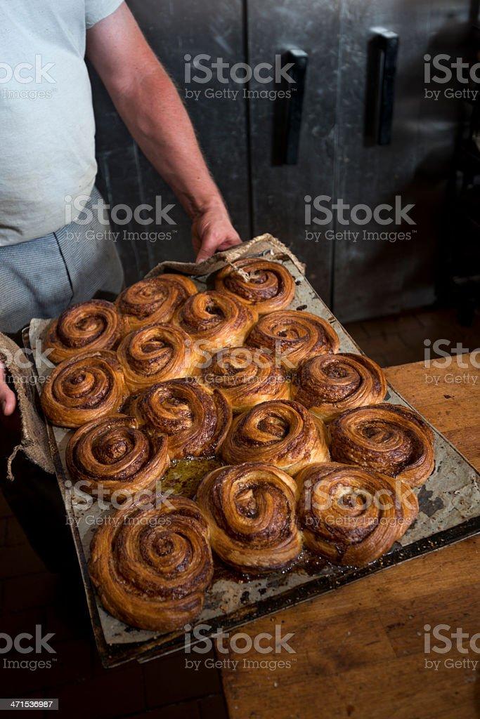 Tray of Fresh Baked Danish Pastries. royalty-free stock photo