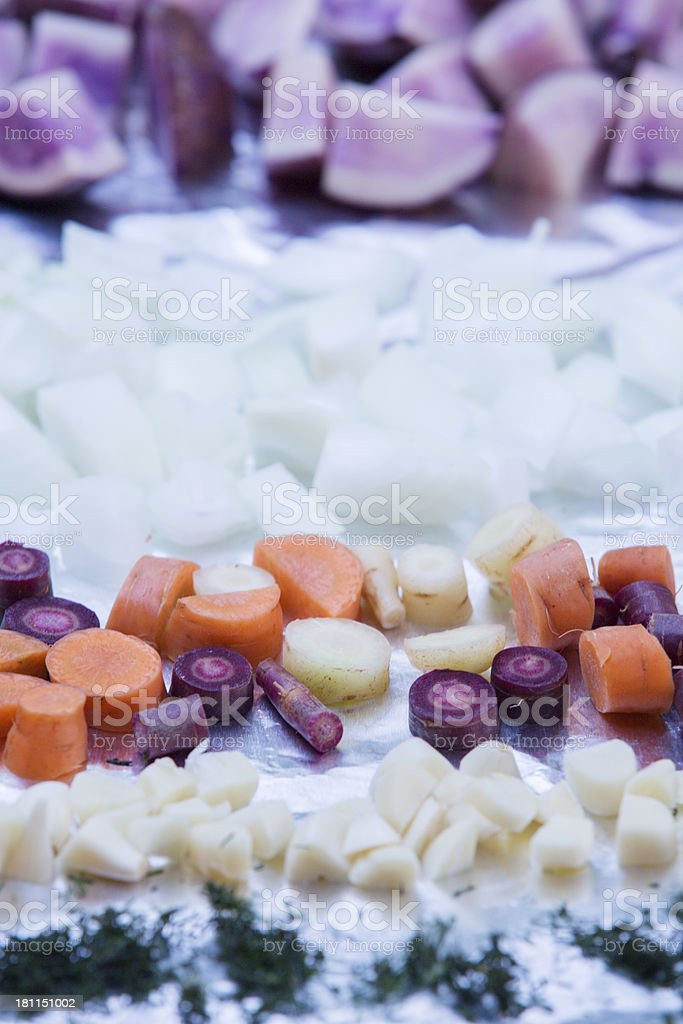tray of ingredients stock photo
