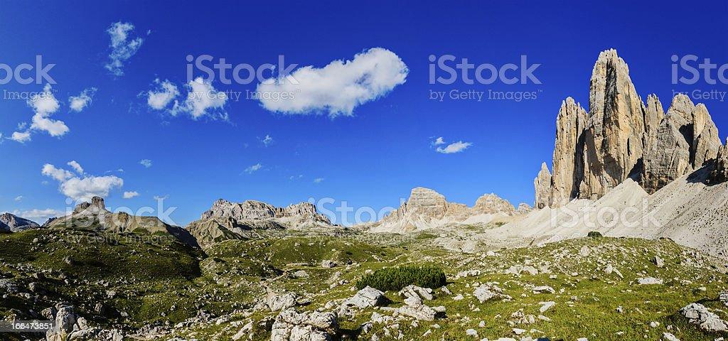 Tre Cime di Lavaredo panorama royalty-free stock photo