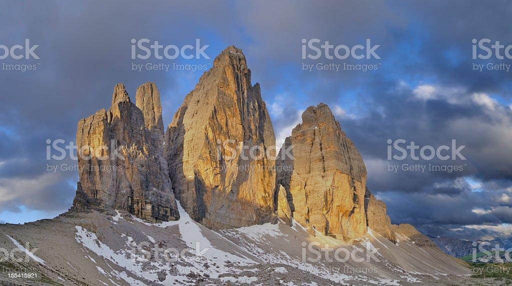 Tre Cime Di Lavaredo (Three Peaks - Dolomites) stock photo