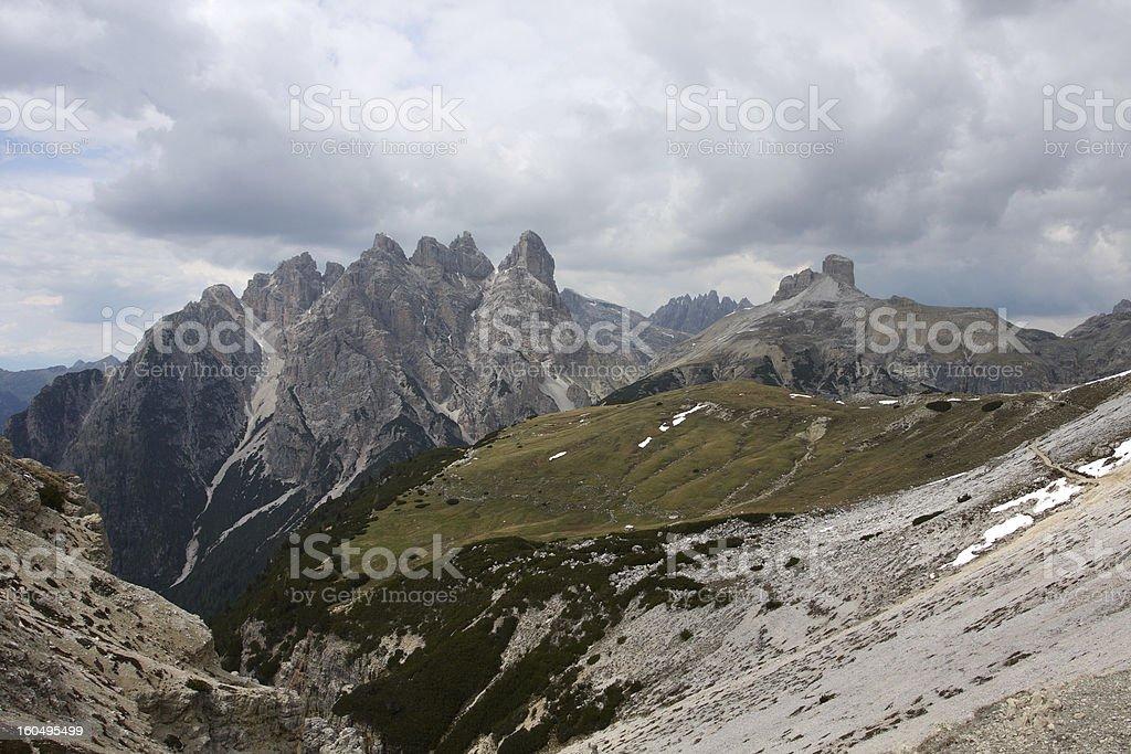 Tre Cime di Lavaredo royalty-free stock photo