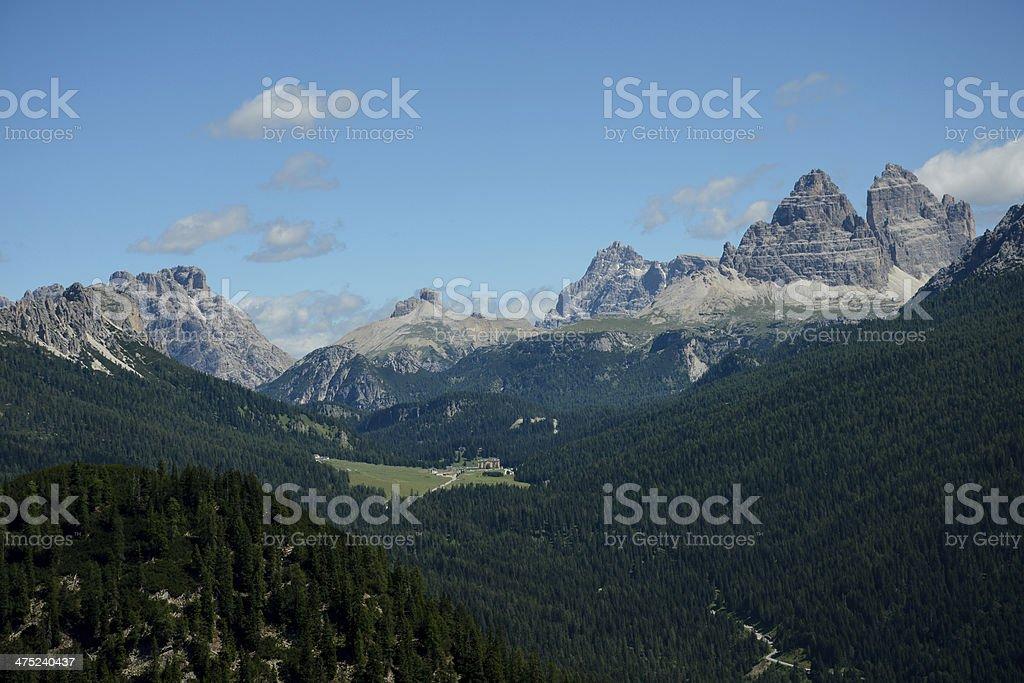 Tre Cime di Lavaredo (Drei Zinnen) royalty-free stock photo