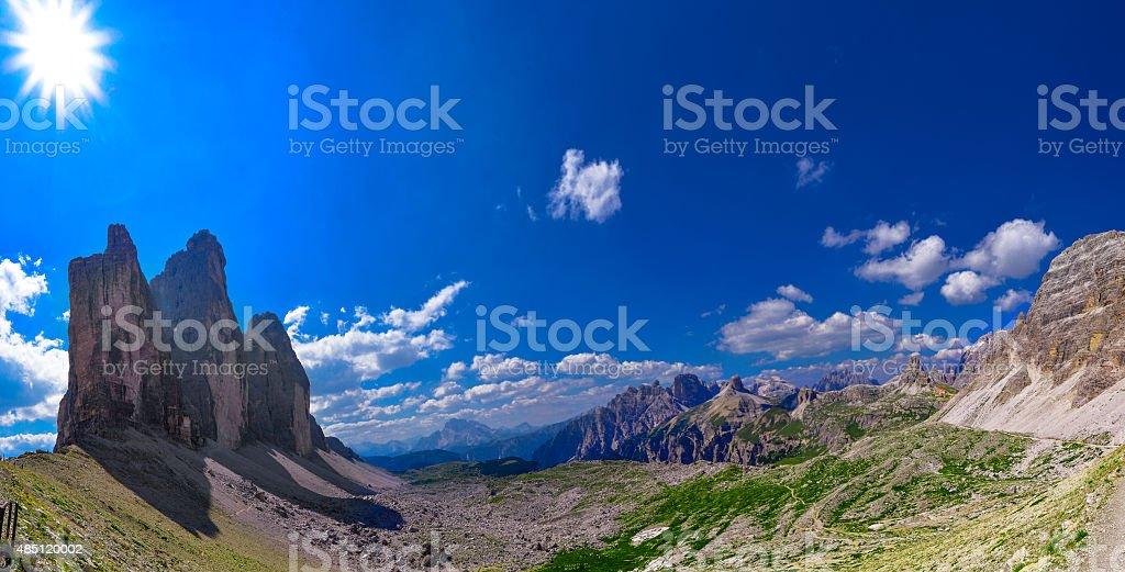 Tre cime di Lavaredo stock photo