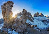 Tre Cime Panorama, Dolomite Alps, Italy
