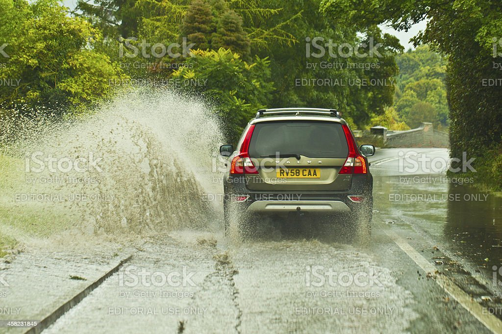Treacherous Driving Conditions royalty-free stock photo