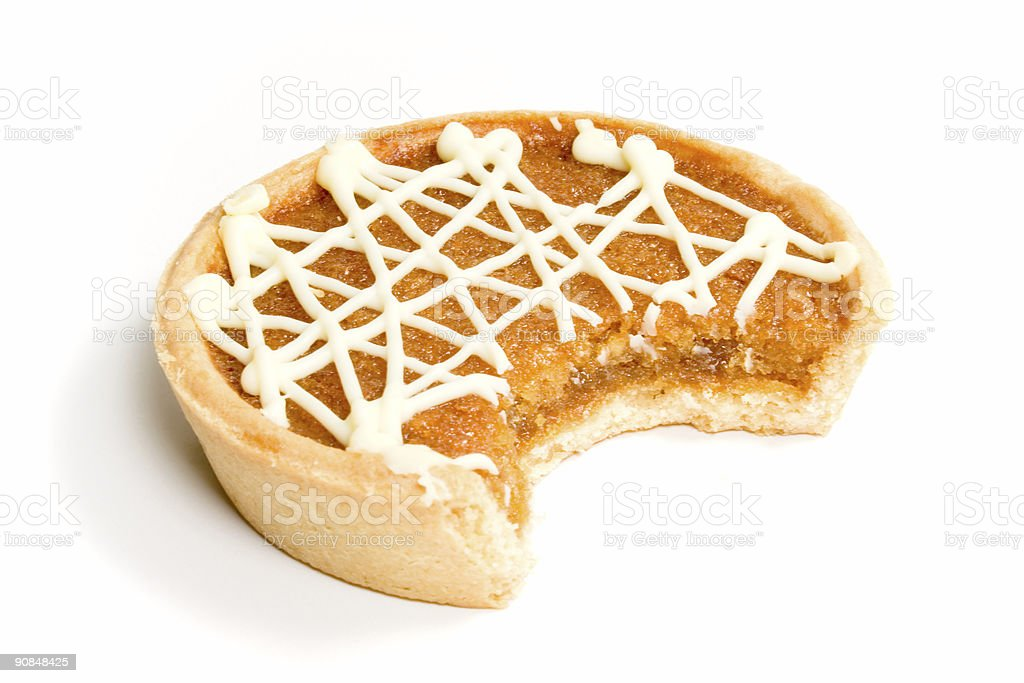 Treacle Tart or Pie with Bite royalty-free stock photo
