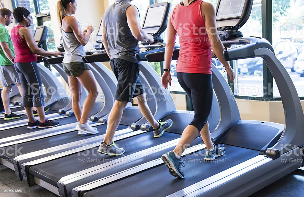 Treadmill Exercise stock photo