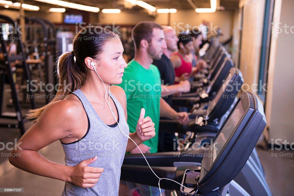 Treadmill Exercise stock photo