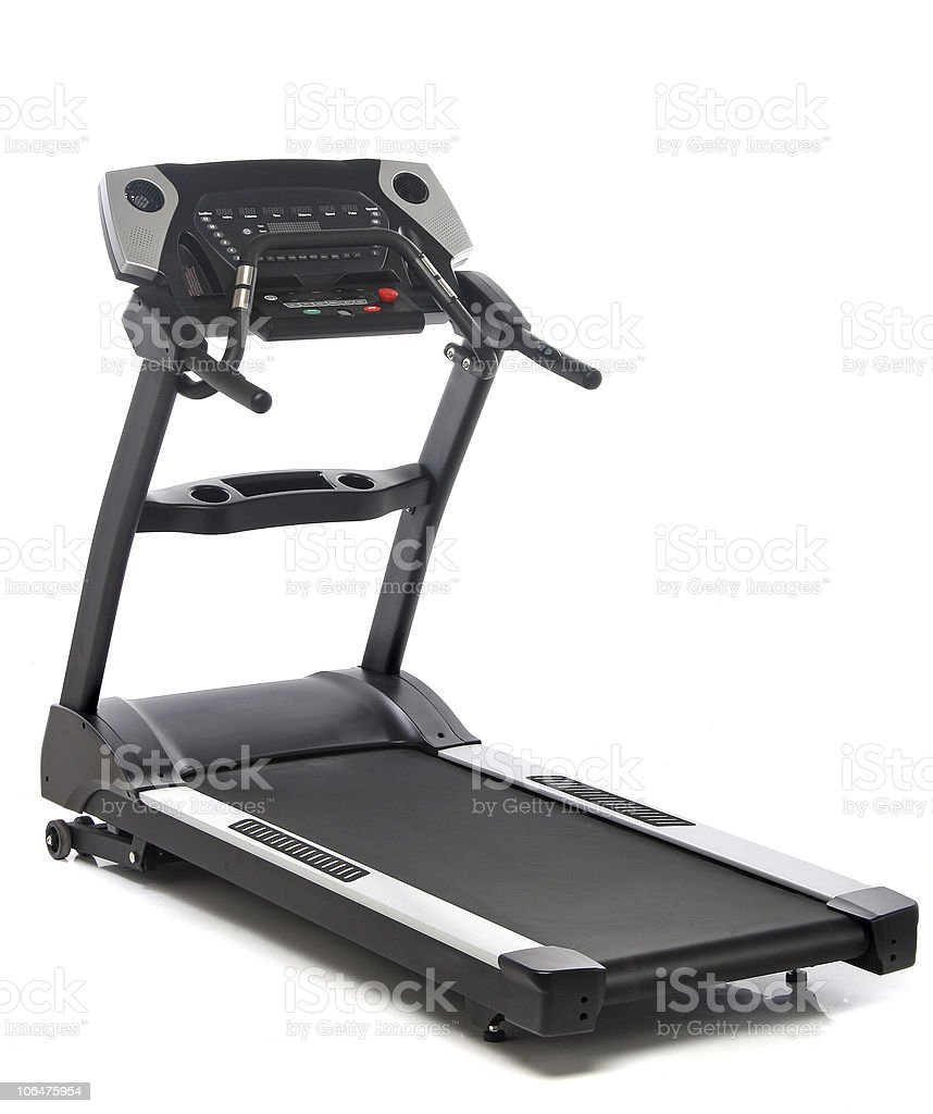 Treadmill isolated on white background royalty-free stock photo