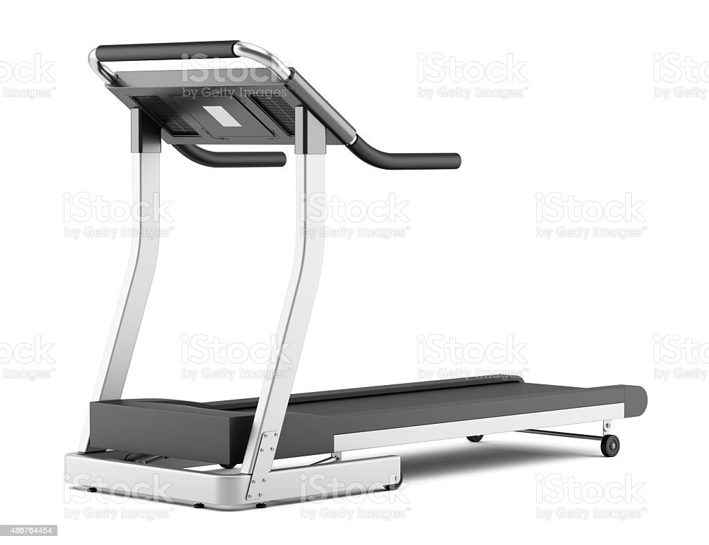 treadmill isolated on white background stock photo