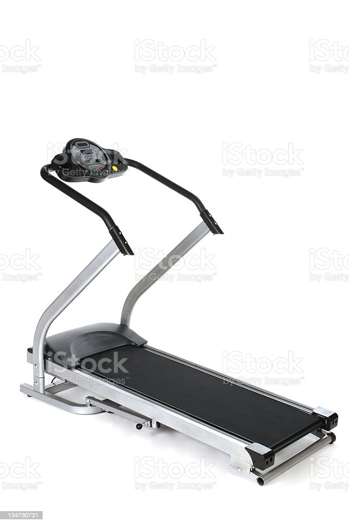 Treadmill isolated on white royalty-free stock photo