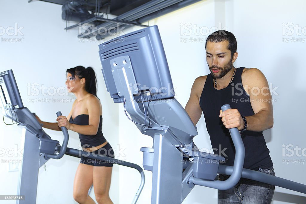 Treadmill Running stock photo